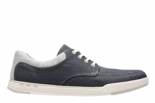 Clarks Mens Step Isle Lace Navy Canvas 19 Shoes
